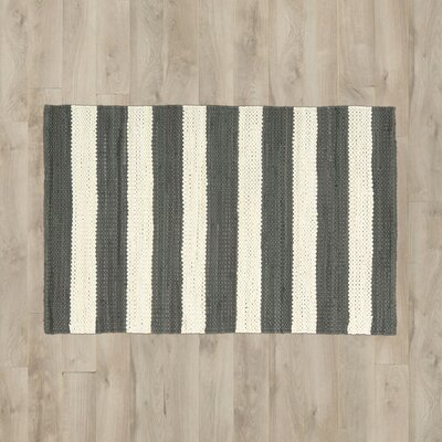 Mayfair Stripe Slate/Ivory Area Rug
