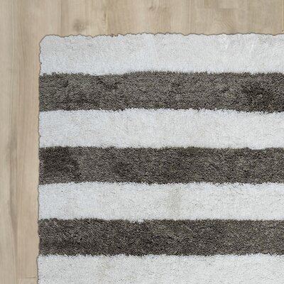 Dublin Hand-Tufted Ivory/Gray Indoor/Outdoor Area Rug Size: Round 3