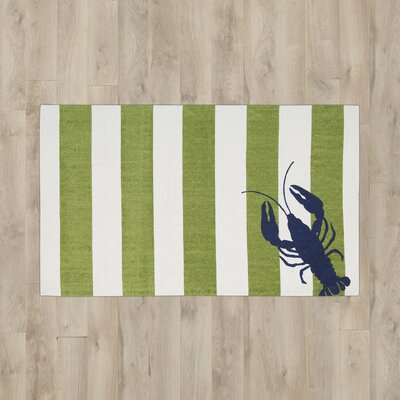 Garner Green/White Area Rug