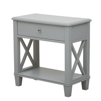 Flintridge 1 Drawer End Table Color: Light Gray