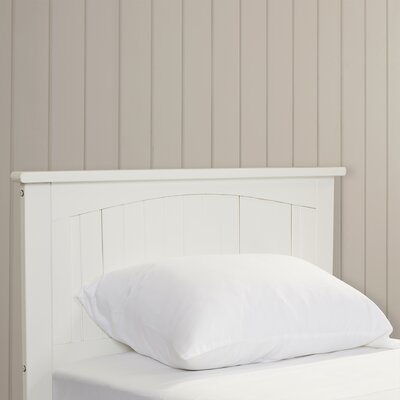 Williamston Panel Headboard Finish: White, Size: Twin