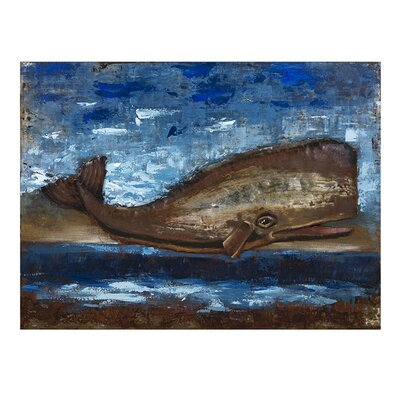 Whale Dimensional Painting Print