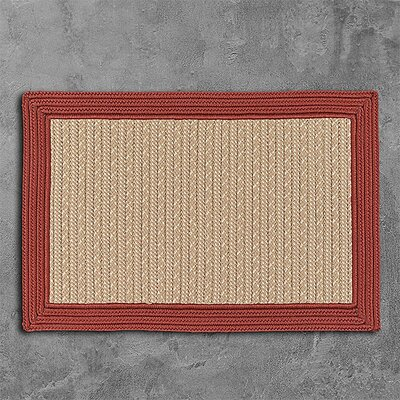 Dartmouth Hand-Woven Beige Area Rug Rug Size: 4 x 6