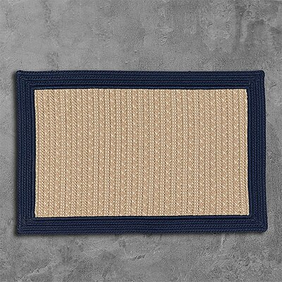 Dartmouth Hand-Woven Navy Indoor/Outdoor Area Rug Rug Size: 2 x 3