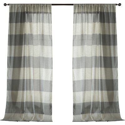 Seafarer Curtain Panels Color: Gray
