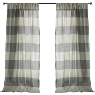 Seafarer Curtain Panels Color: Gray