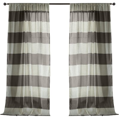 Seafarer Curtain Panels Color: Coffee