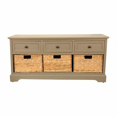 Balsam Wood Storage Entryway Bench