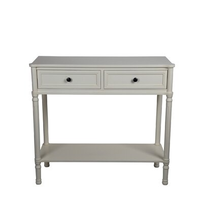 Anglesey 2 Drawer Console Table Finish: Antique White