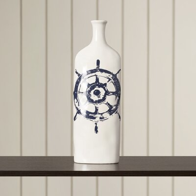 Westerly Nautical Steer Vase