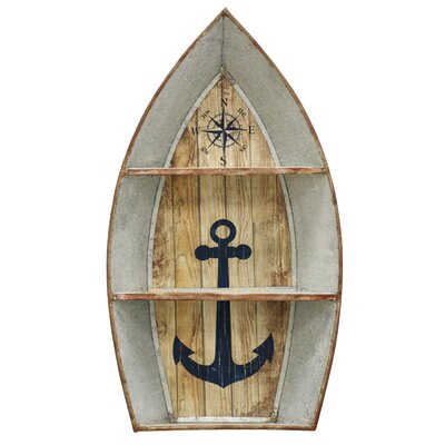 Nautical Metal Boat Shelves Wall Decor