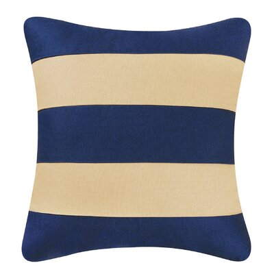 Dayton Stripes Throw Pillow Color: Navy