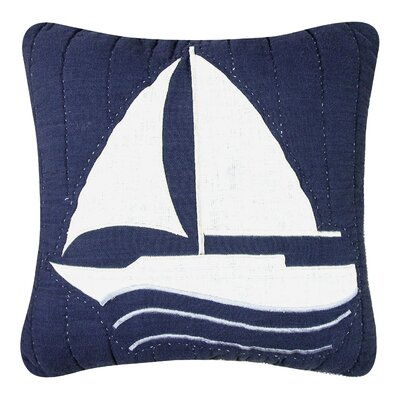 Peregrine Sailboat Quilt 100% Cotton Throw Pillow