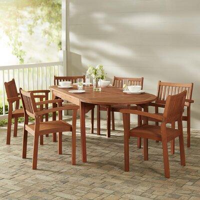 Monterry 7 Piece Wood Dining Set