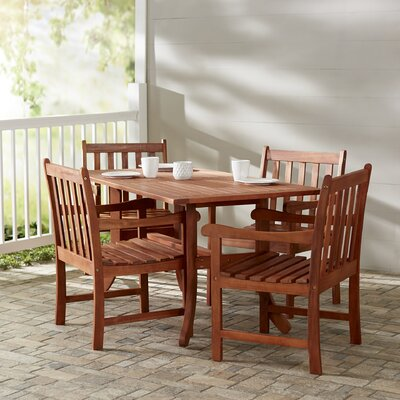 Monterry 5 Piece Rectangular Wood Dining Set