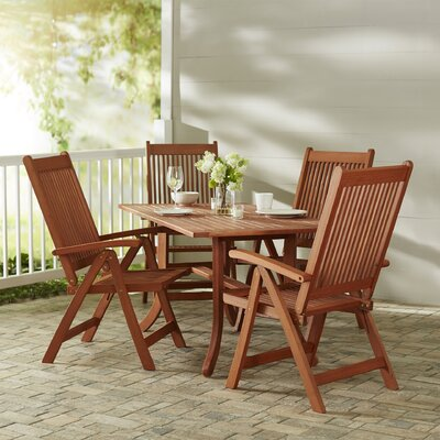 Monterry 5 Piece Eucalyptus Wood Dining Set