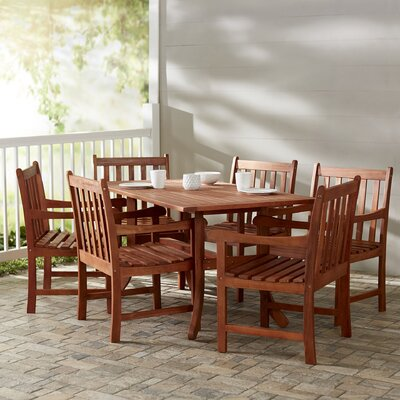 Monterry Traditional 7 Piece Eucalyptus Dining Set