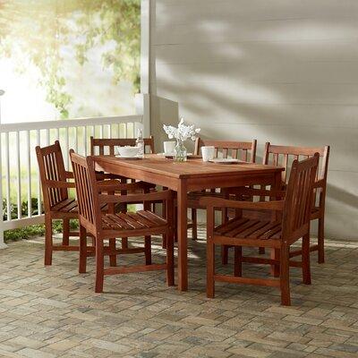 Monterry Traditional 7 Piece Rectangular Wood Dining Set