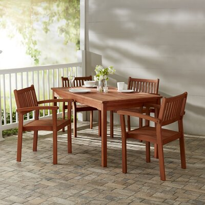Monterry 5 Piece Rectangular Dining Set