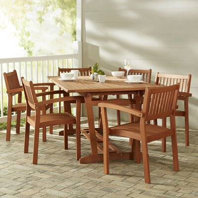 Monterry 7 Piece Slatted Dining Set