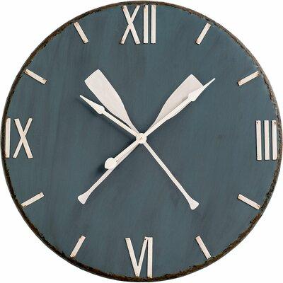 Blue Metal 39 Wall Clock