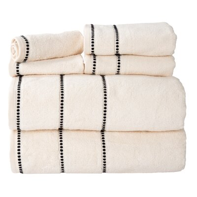 100% Cotton 6 Piece Towel Set Color: Bone