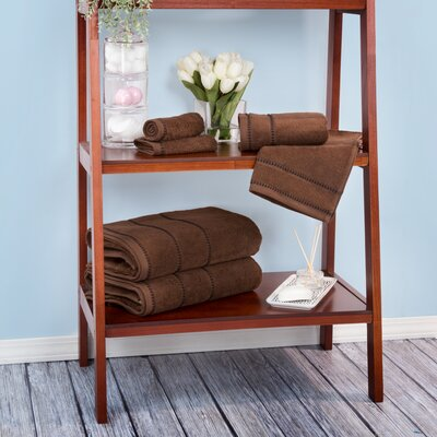 Davenport 100% Cotton 6 Piece Towel Set Color: Chocolate