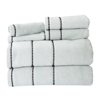 100% Cotton 6 Piece Towel Set Color: Seafoam