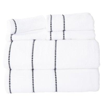 Davenport 100% Cotton 6 Piece Towel Set Color: White