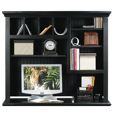 Meredith 39 H x 47 W Desk Hutch Finish: Black, Door Type: None