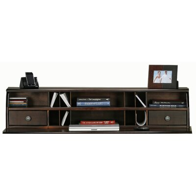 Didier 11 H x 51 W Desk Hutch Door Type: None, Finish: Chocolate Mousse