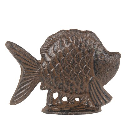 Fish Metal Figurine Color: Rust Brown