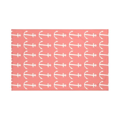 Callahan Coastal Print Throw Blanket Size: 60 L x 50 W, Color: Seed (Coral/Taupe)