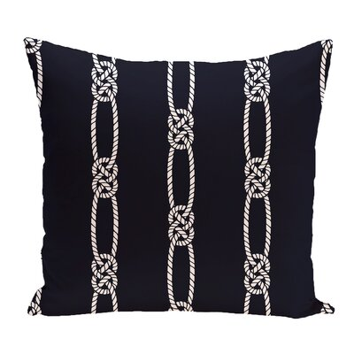 Hancock Tom Foolery Stripe Throw Pillow Color: Navy Blue, Size: 18 H x 18 W