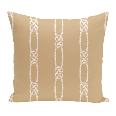 Hancock Tom Foolery Stripe Throw Pillow Size: 16 H x 16 W, Color: Beige/Taupe
