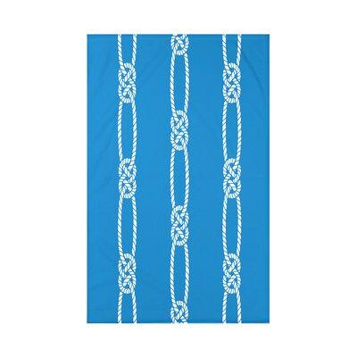 Hancock Tom Foolery Stripe Throw Blanket Size: 60 L x 50 W x 0.5 D, Color: Blue