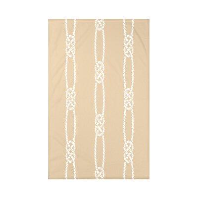 Hancock Tom Foolery Stripe Throw Blanket Size: 60 L x 50 W x 0.5 D, Color: Beige/Taupe