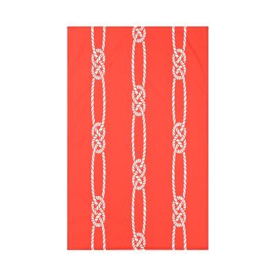 Hancock Tom Foolery Stripe Throw Blanket Size: 60 L x 50 W x 0.5 D, Color: Orange