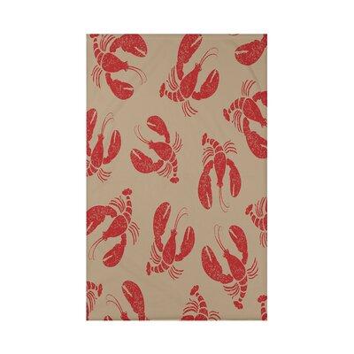 Hancock Lobster Fest Coastal Throw Blanket Size: 60 L x 50 W x 0.5 D