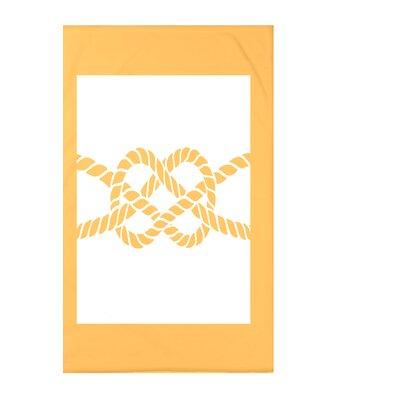 Hancock Nautical Knot Geometric Throw Blanket Size: 60 L x 50 W x 0.5 D, Color: Yellow