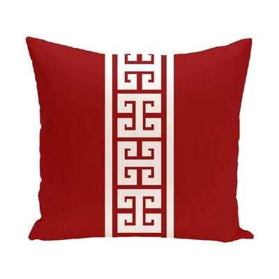 Hancock Key Stripe Stripe Throw Pillow Size: 16