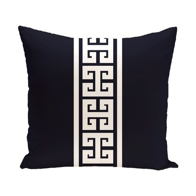 Hancock Key Stripe Stripe Throw Pillow Size: 26 H x 26 W, Color: Navy Blue