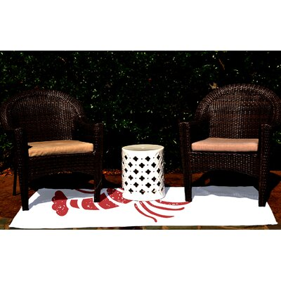 Hancock White Indoor/Outdoor Area Rug Rug Size: 4 x 6