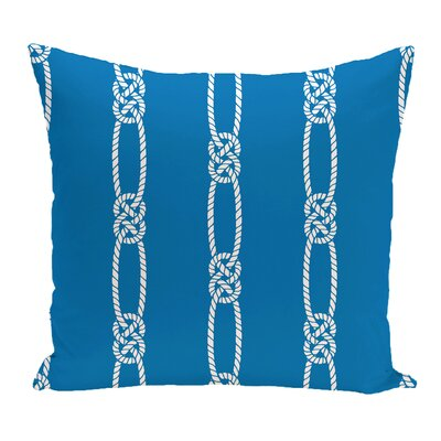 Hancock Tom Foolery Stripe Outdoor Throw Pillow Size: 18 H x 18 W, Color: Blue