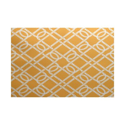 Bridgeport Traditional Yellow Indoor/Outdoor Area Rug Rug Size: 4 x 6