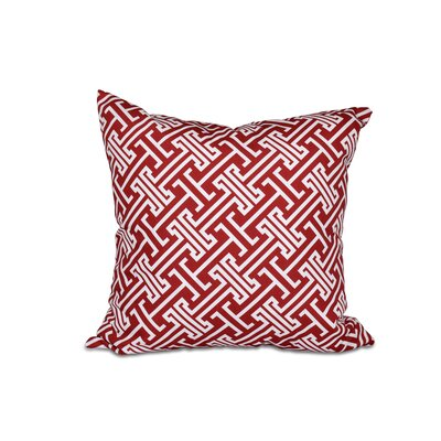 Hancock Leeward Key Geometric Throw Pillow (Set of 2) Size: 18 H x 18 W, Color: Red