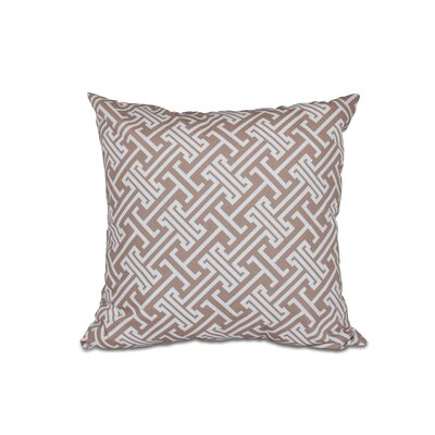 Hancock Leeward Key Geometric Throw Pillow (Set of 2) Size: 20 H x 20 W, Color: Beige/Taupe