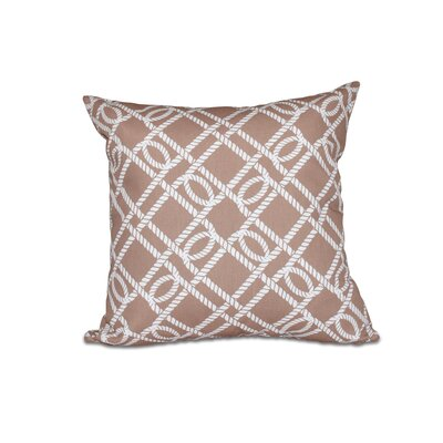 Bridgeport Know The Ropes Geometric Throw Pillow Size: 18 H x 18 W, Color: Beige/Taupe