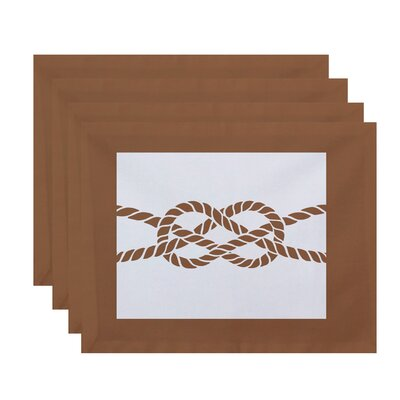 Breakwater Bay Hancock Nautical Knot Geometric Placemat