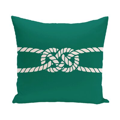 Hancock Carrick Bend Geometric Throw Pillow Size: 18 H x 18 W, Color: Green